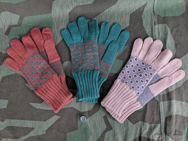 Vintage 1930s / 1940s WWII German Winter Gloves New Old Stock