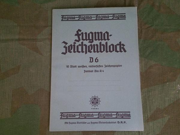 Vintage 1930s German Fugma-Zeichenblock D.R.P. Drawing Tablet NOS