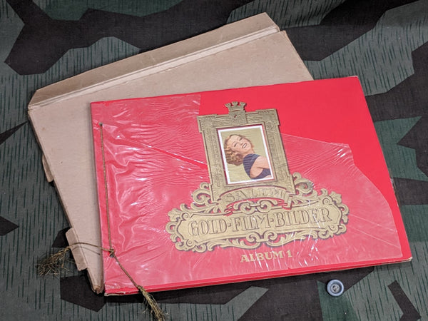 Vintage 1930s German Gold Film Bilder Salem Cigarette Card Album Incomplete