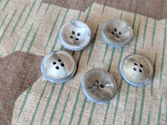 Vintage 1930s German Green Celluloid Buttons (Set of 5)