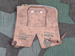 Vintage 1930s German Lederhosen Novelty Change Purse