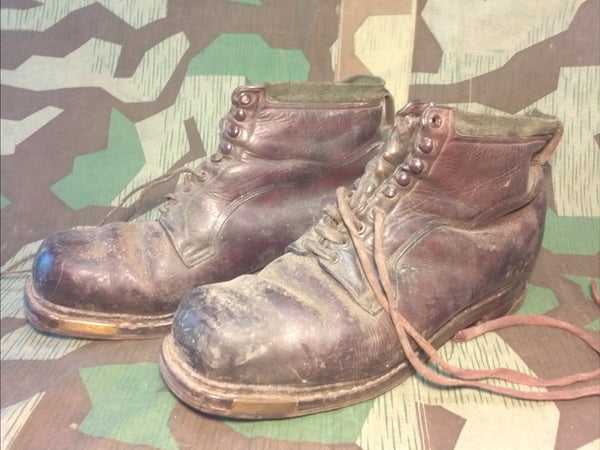Vintage 1930s 1940s German Ski Boots Size 11 - WWII Gebirgsjager