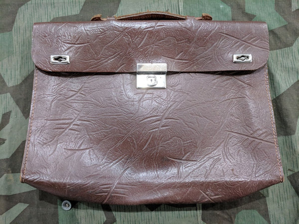 Vintage 1930s Pre-WWII German Leather Briefcase