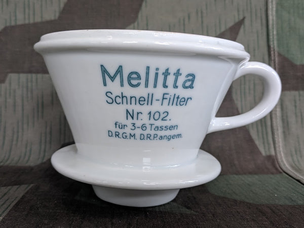 Vintage 1930s Pre-WWII German Melitta 102 Coffee Funnel Cone DRP DRGM