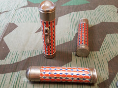 Vintage 1930s WWII German Orange and Blue Flashlight (for HJ)