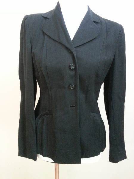Vintage 1940s / 1950s Black Jacket - Fashioned by Lampl