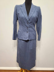 Vintage 1940s / 1950s Cornflower Blue Skirt Suit
