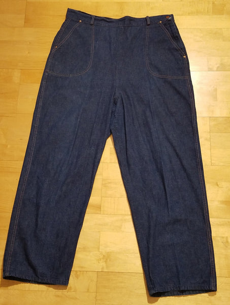 "Vintage 1940s / 1950s Side Zipper Jeans (37""-38"" waist)"