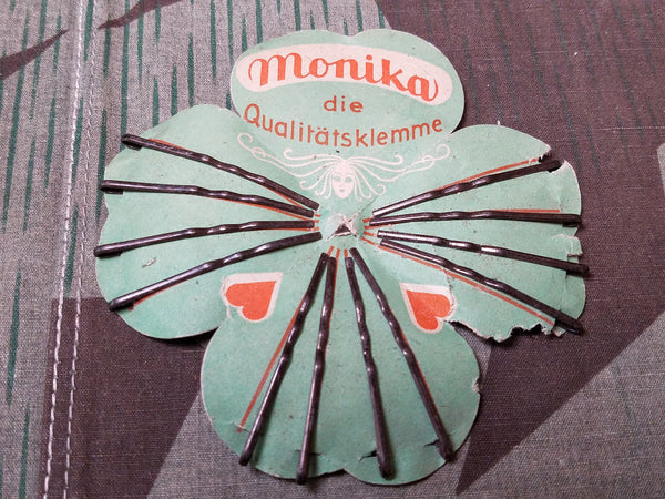 Vintage 1940s German Bobby Pins on Card