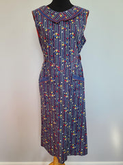 "German Colorful Wrap Dress <br> (B-40"" W-30"" H-40"")"