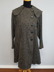 Vintage 1940s German Gray Wool Coat