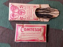 Vintage 1940s German Hair Pins in Packaging Comtesse