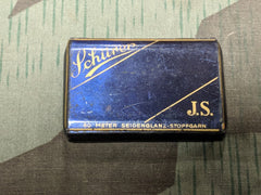 Vintage 1940s German JS Schürer Yarn Tin