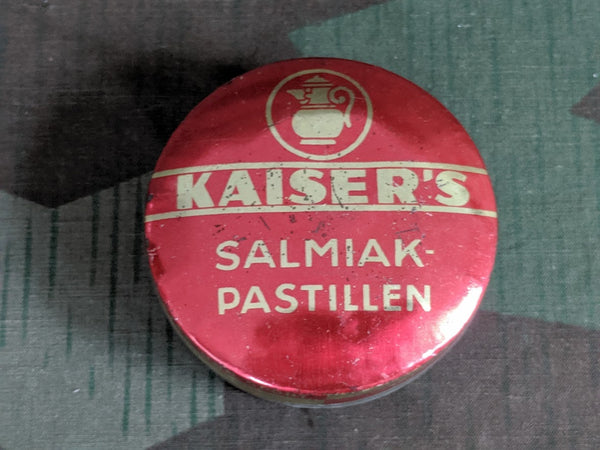 Vintage 1940s German Kaiser's Salmiak-Pastillen Salty Licorice Tin