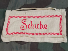 Vintage 1940s German Schuhe Shoe Carrying Bag