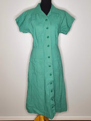Vintage 1940s Green Work Dress Uniform