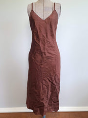 Vintage 1940s Reddish-Brown Dress Slip (as-is)