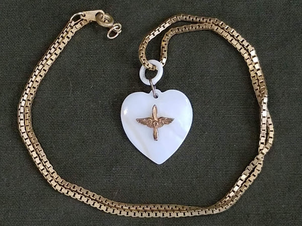 Vintage 1940s WWII Army Air Corps Sweetheart Necklace