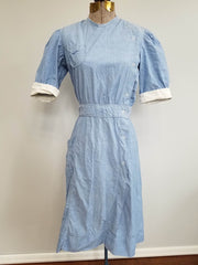 Vintage 1940s WWII Bruck's Nurse's Uniform Dress