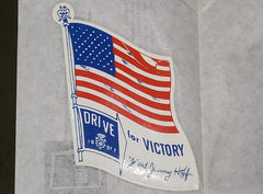 Vintage 1940s WWII Drive for Victory Decal