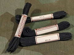 Vintage 1940s WWII German Black Shoelaces 90cm