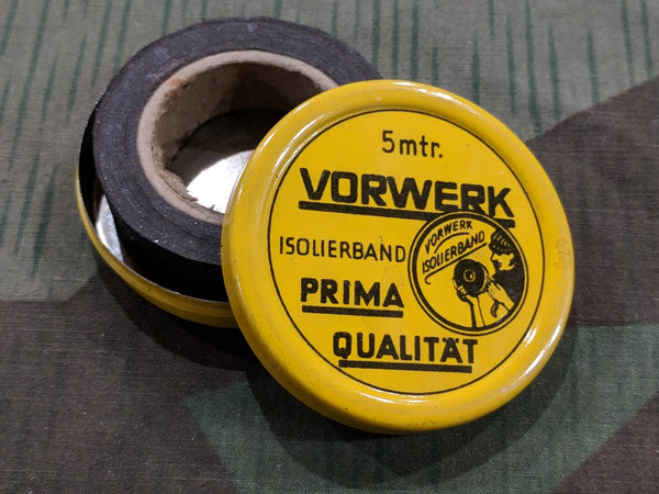 Vintage 1940s WWII German Vorwerk Tape Tin with Tape Inside