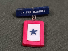 Vintage 1940s WWII In the Marines In Service Pin Sweetheart