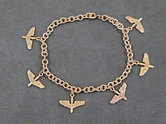 Vintage 1940s WWII Sweetheart Army Air Corps Charm Bracelet