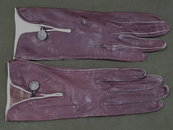 Vintage Ladies Brown Leather Gloves
