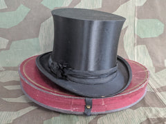 Vintage French Collapsible Top Hat in Box