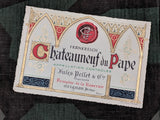 Vintage Chateauneuf de Pape Wine Bottle Labels