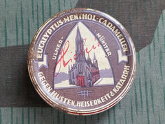 Vintage German 1930s Eucalyptus Menthol Caramellen Cough Drop Tin