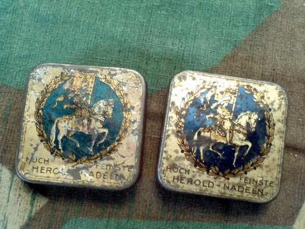 Vintage German Herold Gramophone Needle Tins