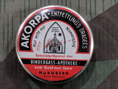 Vintage German Akorpa Weight Loss Pill Tin