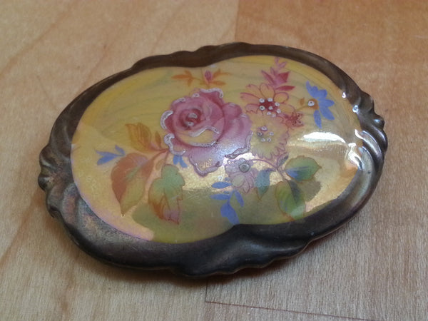 Vintage German Bareuther Bavaria Handpainted Brooch