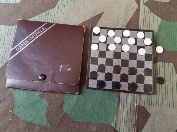 Vintage German Dame Mühle Game Set (Checkers / Nine Men's Morris)