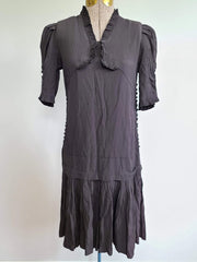 Vintage German Early 1930s Flapper Black Dress