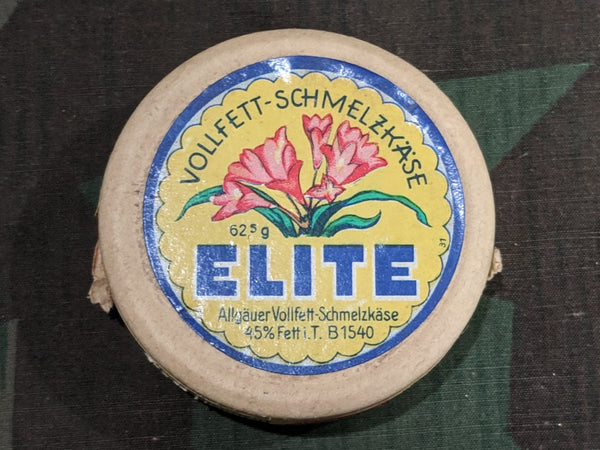 Vintage German Elite Vollfett-Schmelzkäse Cheese Spread Container