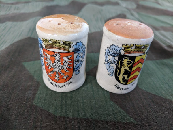 Vintage Frankfurt / Hanau Beer Krug Salt and Pepper Shakers