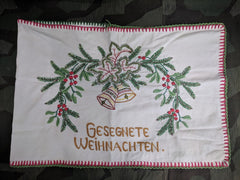 Vintage German Gesegnete Weihnachten Christmas Pillowcase