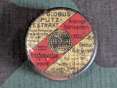 Vintage German Globus Putz Extract Tin for Metal Polish