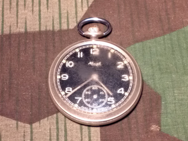 Vintage German Kienzle Black Face Pocket Watch