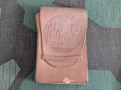 Vintage German Köln Souvenir Leather Cigarette Case