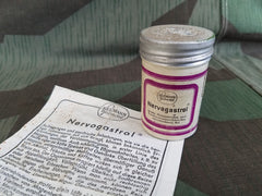 Vintage German Nervogastrol Medicine Tin with Instruction Paper