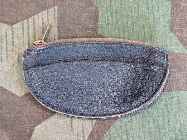 Vintage German Small Black Change Coin Purse AS-IS