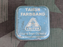 Vintage German Taifun Farbband Typewriter Ribbon Tin