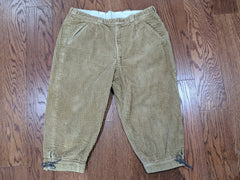 Vintage German Tan Corduroy Lederhosen  - 34in Waist