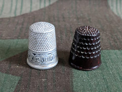 Vintage German Thimble Set - Bakelite & Aluminum