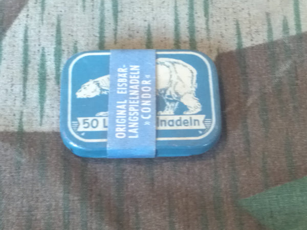 Vintage German Unopened Gramaphone Needle Tin Eisbär