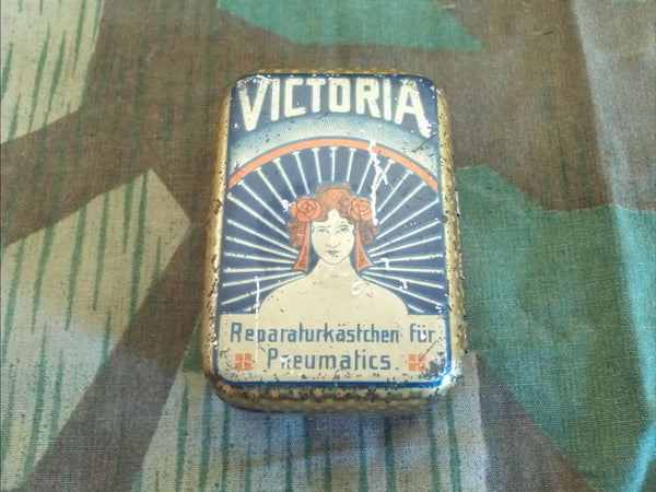 Vintage German Victoria Bicycle Tire Repair Tin 1920s